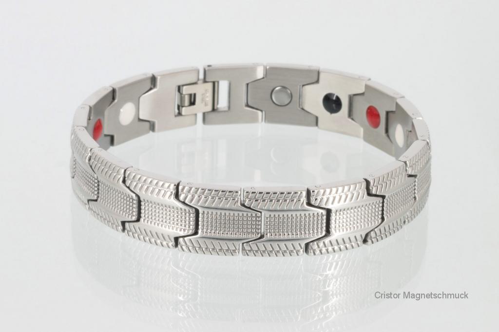 E8078S - 4-Elemente Armband silberfarben
