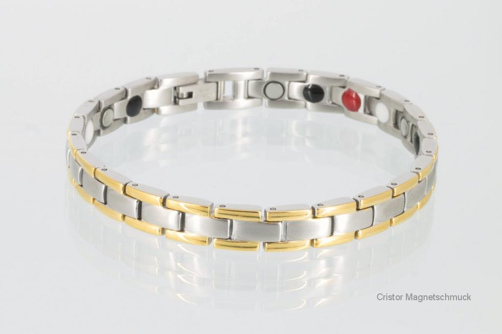 E8197B - 4-Elemente Armband bicolor
