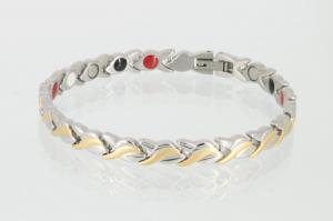 E8333B - 4-Elemente Armband bicolor