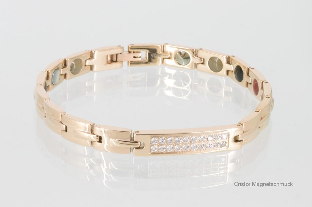 E8256RGZ - Energiearmband rosegold mit Zirkoniasteinen