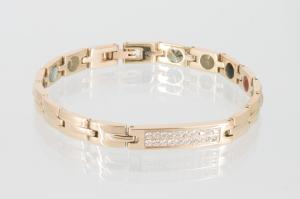 Energiearmband rosegold mit Zirkoniasteinen - e8256rgz