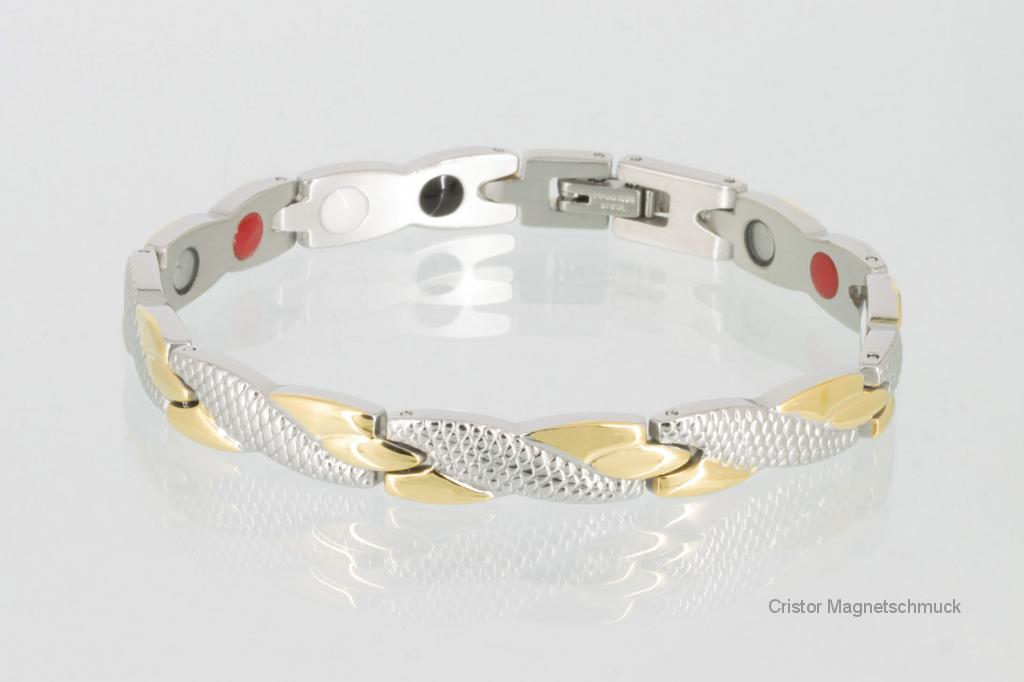 E8541B - 4-Elemente Armband bicolor