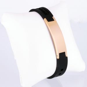 KEBL9020RG - Energiearmband mit rosegoldfarbener Platte