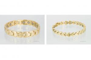 Magnetarmbänder als Partnerset goldfarben - 8580gp