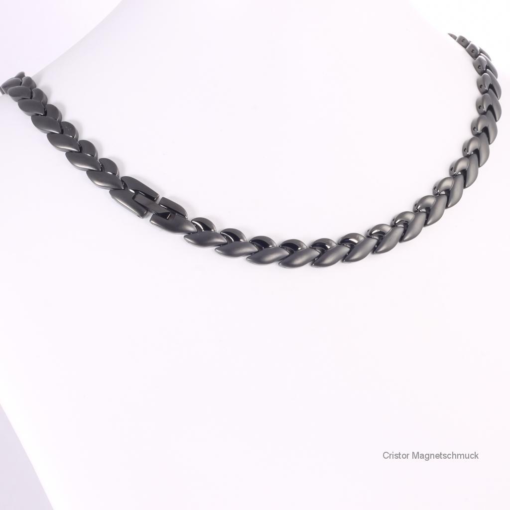 H9023BLSet - Halskette und Energiearmband im Set schwarz