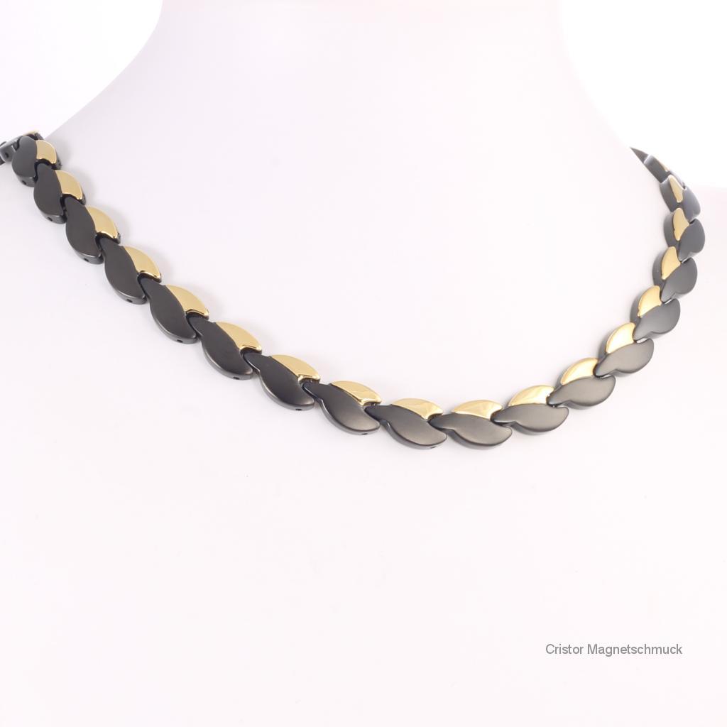 H9025BLGSet3 - Magnetschmuckset schwarz gold