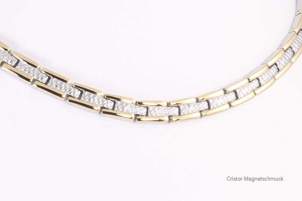 H9034BSet2 - Halskette und Armband im Set bicolor