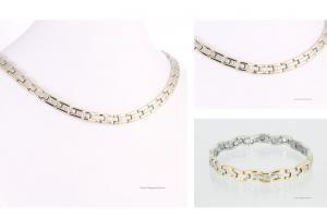 Halskette und Armband im Set bicolor - h9034bset2