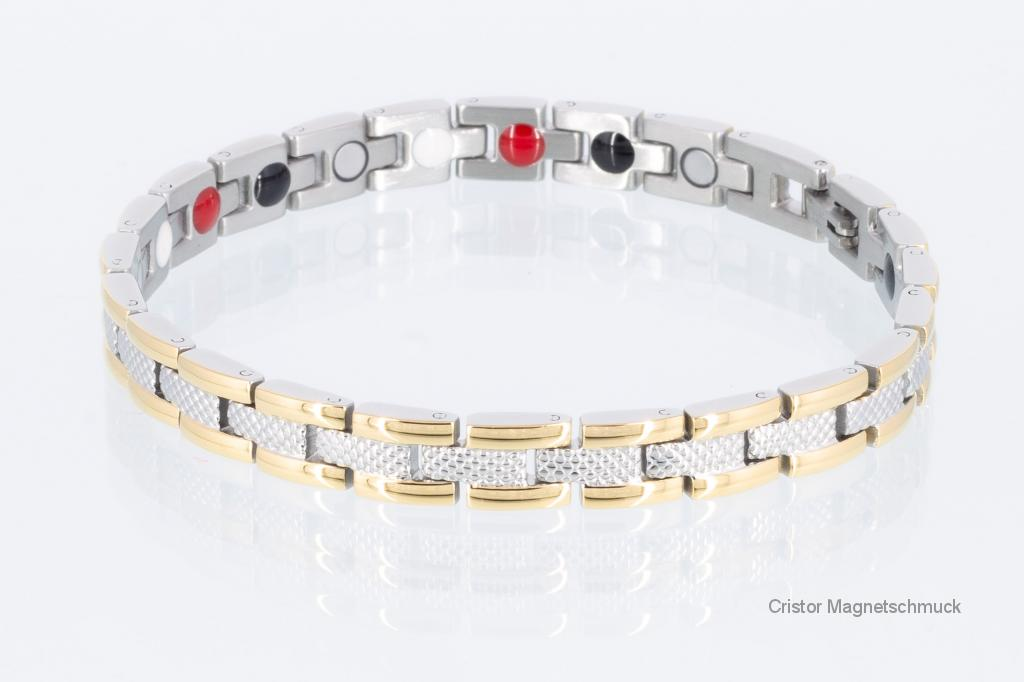 E8001B - 4-Elemente Armband bicolor