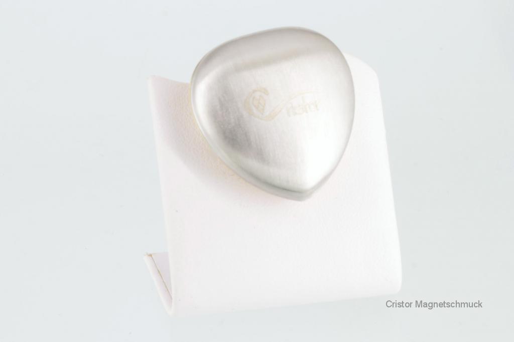PE3011SK - Powermagnet silberfarben in Herzform