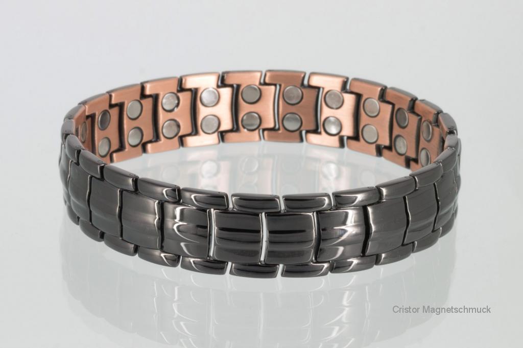 CU8901BL - Doppelreihiges Kupfer - Magnetarmband