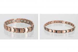 Kupfer-Magnetarmbänder als Partnerset - cu8262p