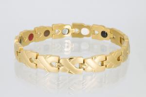 E8562G - 5-Elemente Armband goldfarben