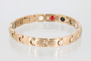 4-Elemente Armband rosegoldfarben - e8152rg