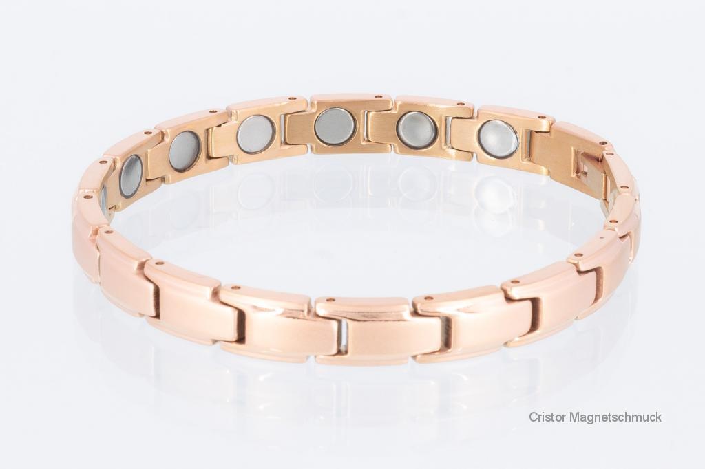 8262RG4P - Magnetarmbänder als Partnerset rosegold mit extra-starken Magneten