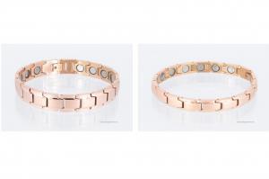 Magnetarmbänder als Partnerset rosegold mit extra-starken Magneten - 8262rg4p