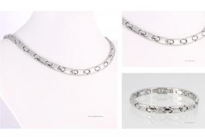 Halskette und Armband im Set silberfarben - h9011sset