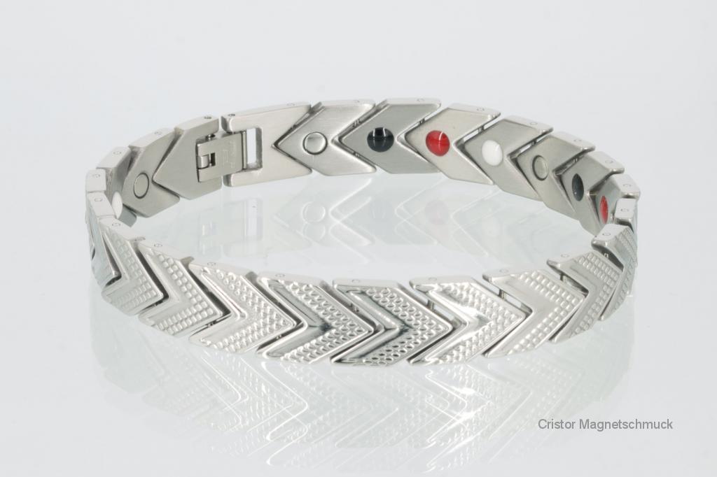 E8113S - 4-Elemente Armband silberfarben