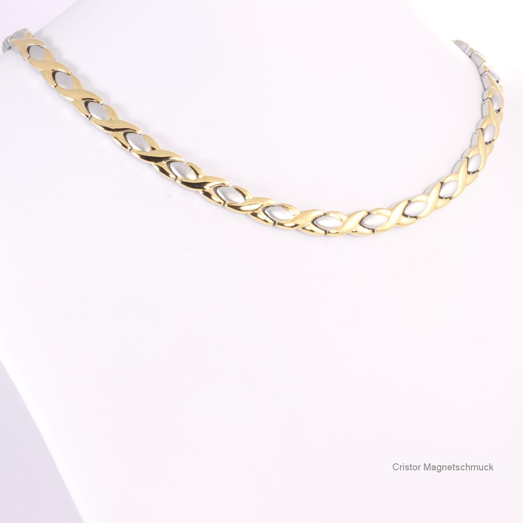 H9024BSet - Halskette und Armband im Set bicolor