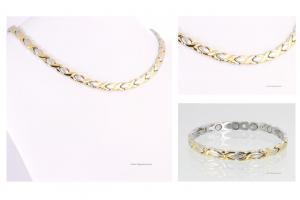 Halskette und Armband im Set bicolor - h9024bset