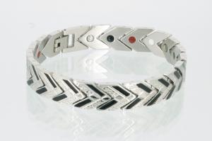 E8087BLS - 4-Elemente Armband silber schwarz
