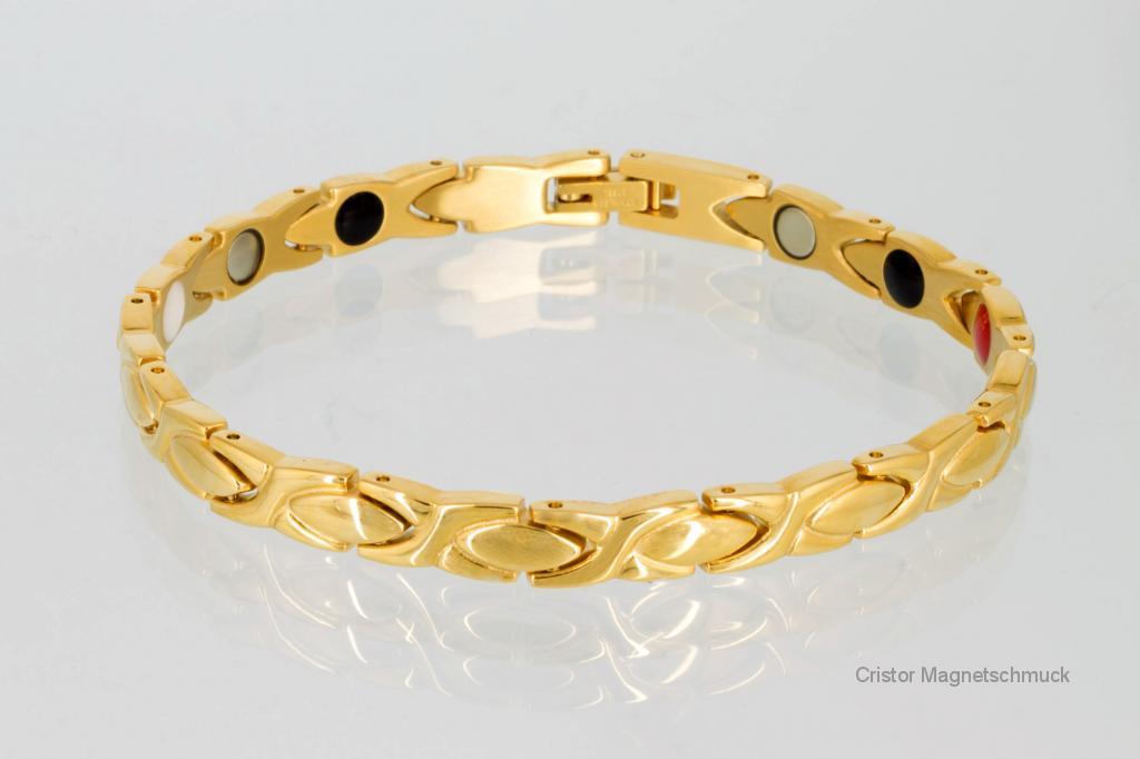 E8011G2 - 4-Elemente Armband goldfarben