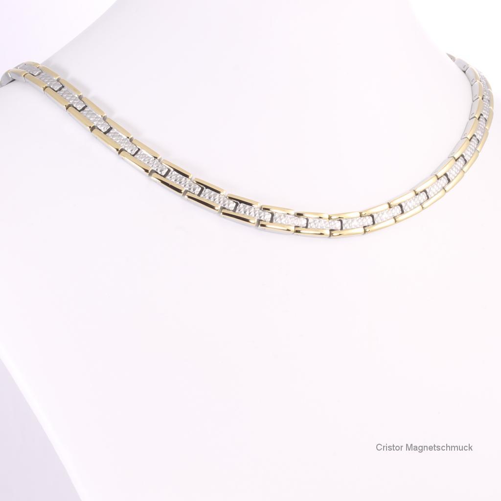 H9034BSet - Halskette und Armband im Set bicolor