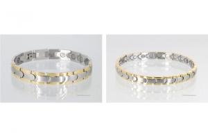 8062BP - Magnetarmbänder als Partnerset bicolor