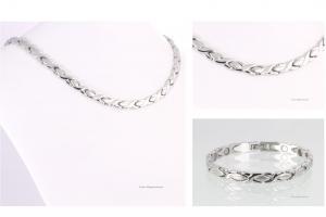 Halskette und Armband im Set silberfarben - h9024sset