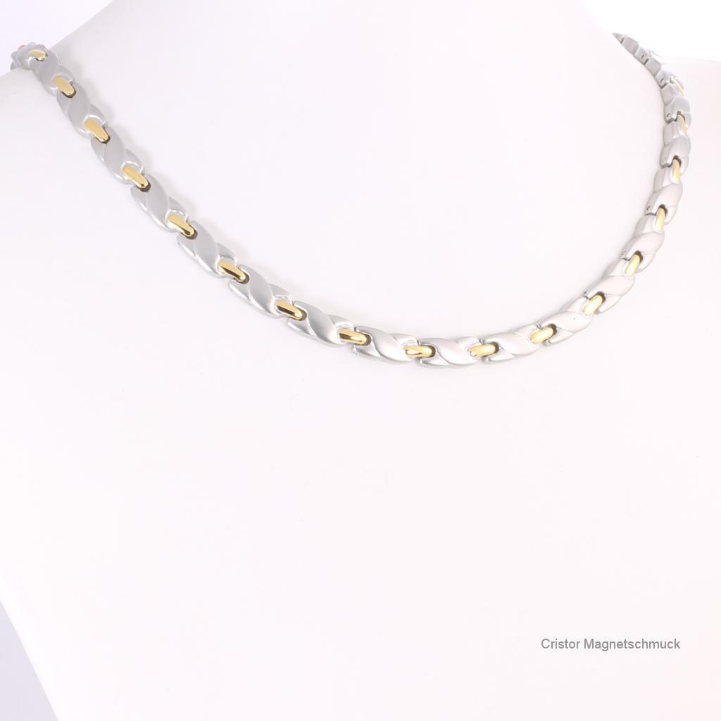 H9038BSet - Halskette und Armband im Set bicolor