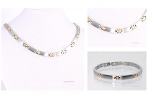 H9084BZSet - Halskette und Armband im Set bicolor mit Zirkonia