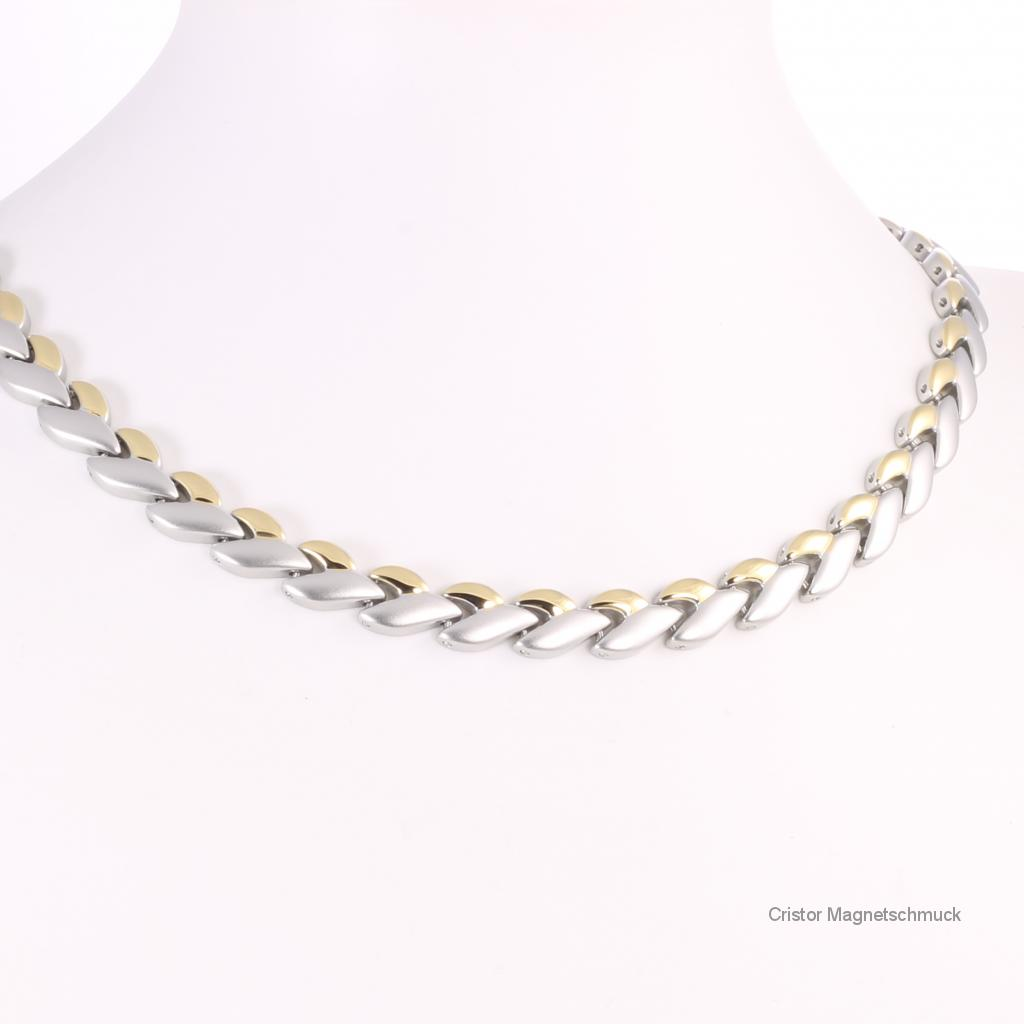 H9023BSet - Halskette und Armband im Set bicolor
