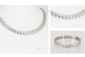 Halskette und Armband im Set silberfarben - h9032sset