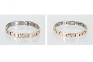 TE8247B2P - Titanenergiearmbänder als Partnerset rosegold silber