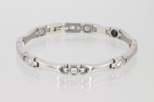 E8565S2Z - 4-Elemente Armband silberfarben mit weißen Zirkoniasteinen