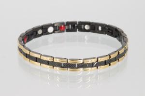 E8001BLG - 4-Elemente Armband schwarz gold