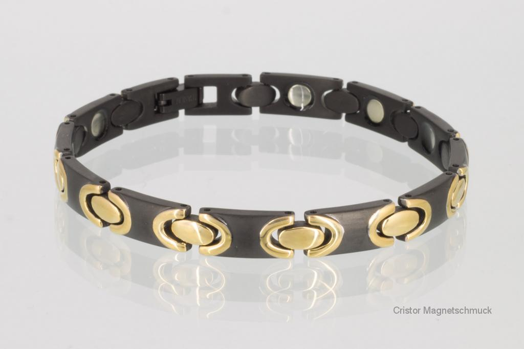 T8317BLG - Titan-Magnetarmband schwarz gold