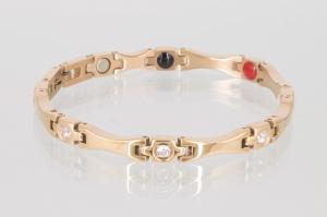 E8565RG2Z - 4-Elemente Armband rosegoldfarben mit weißen Zirkoniasteinen