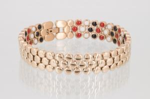 E8304RG2 - 3-Elemente Armband rosegoldfarben mit extra vielen Einlagen