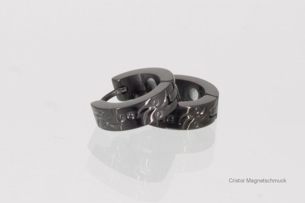 20050BL - Magnetohrringe schwarz