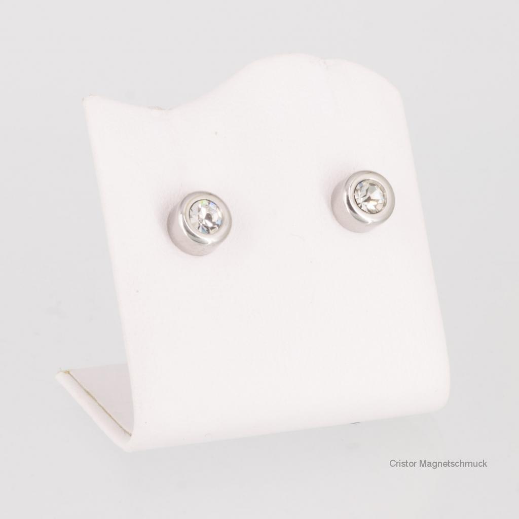 E8565S2ZSet - Energiearmband und Ohrringe im Set silberfarben mit weißen Zirkonia