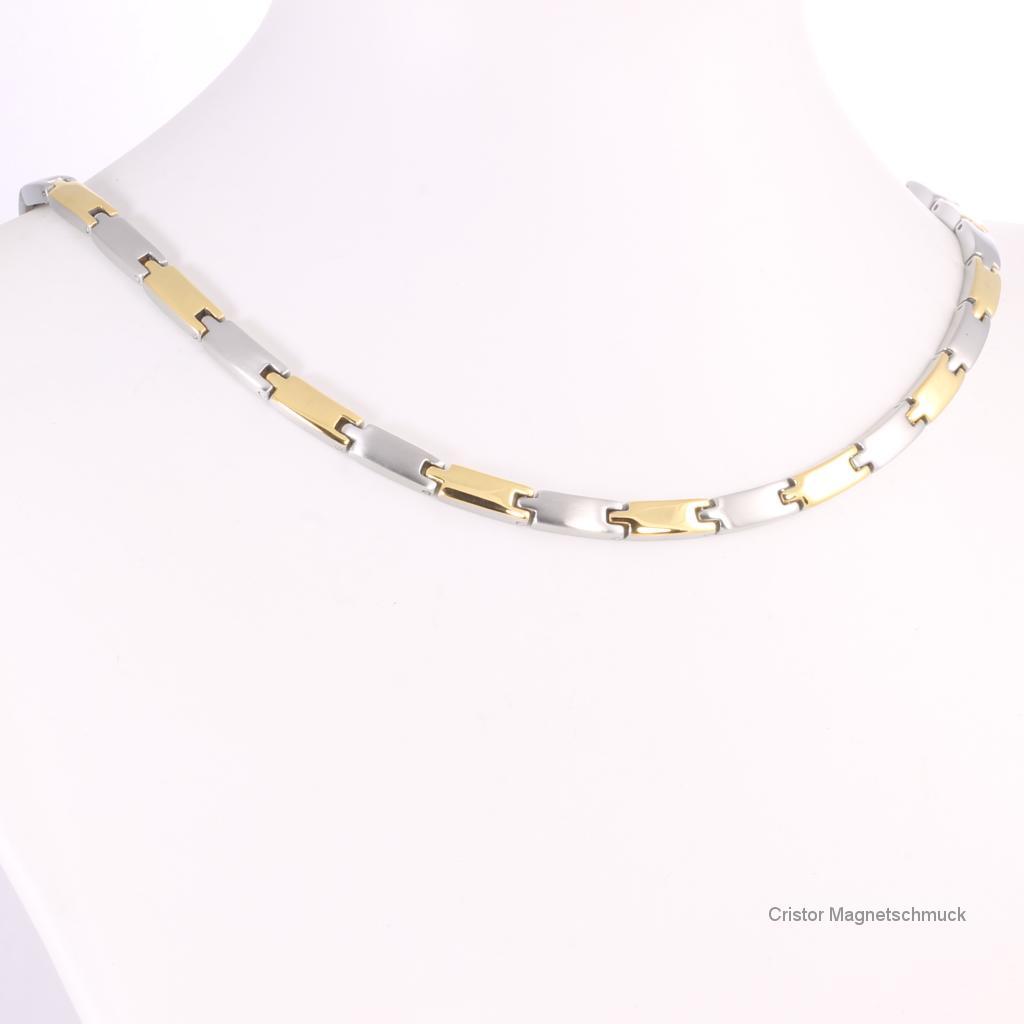 H9031BSet - Halskette und Armband im Set bicolor