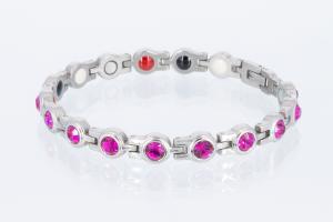 E8334SZ - 4-Elemente Armband silberfarben mit pinkfarbenen Zirkonia