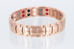 E8901RG - Doppelreihiges Energiemagnetarmband rosegoldfarben