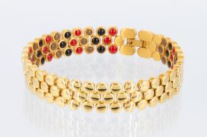 E8304G2 - 3-Elemente Armband goldfarben mit extra vielen Einlagen
