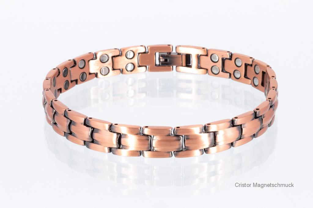 CU8901bSet - Kupfer-Magnetarmbänder als Partnerset