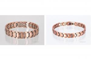 Kupfer-Magnetarmbänder als Partnerset - cu8901bset