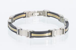 TE8346BLS - Titan-Energiearmband in silber, schwarz, gold