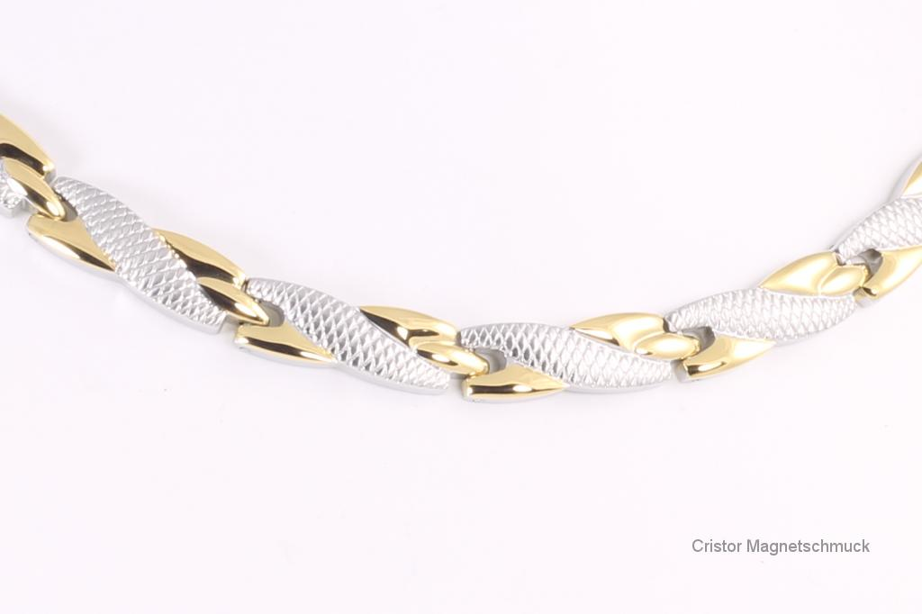 H9059BSet - Halskette und Armband im Set bicolor