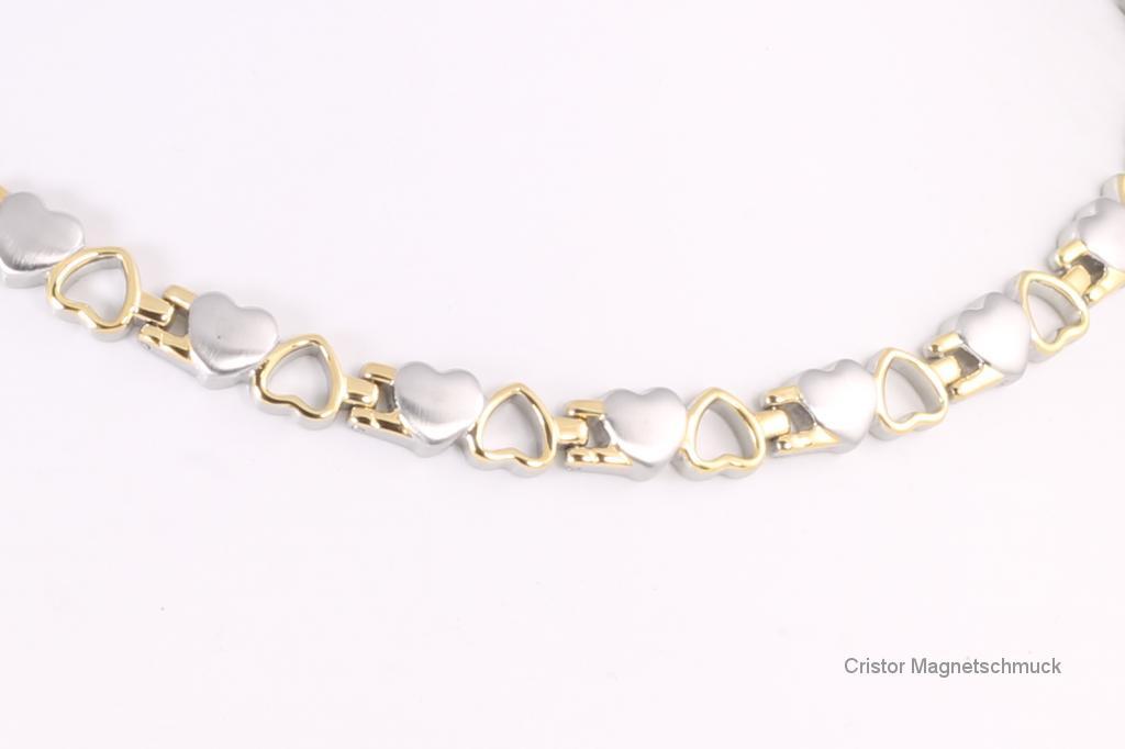 H9035BSet - Halskette und Armband im Set bicolor